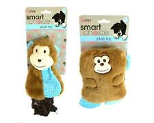 2x Puppy Plush Toys Small Dog Set Soft Squeaky Rope Chewing Tug War Monkey Blue