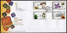 Hongkong 1417-20 FDC, 100 Jahre Pfadfinder