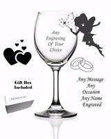 Personalised Engraved Wine Glass Birthday Gift Anniversary Wedding