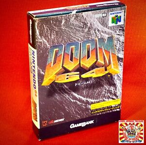 Nintendo 64 N64 Doom w/Box w/Instruction w/Reg Card Japan JP