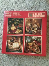 SPRINGBOK MULTI PUZZLE A BEARY MERRY CHRISTMAS. 4 PUZZLES IN ONE BOX ADORABLE
