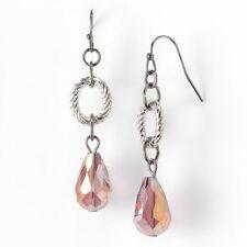 NEW! SIMPLY VERA WANG Two Tone Plum Drop Earrings FREE SHIPPING!