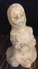 Dave Grossman Designs Clay Sculpture Anne Entis - Vintage Art Figure - Signed