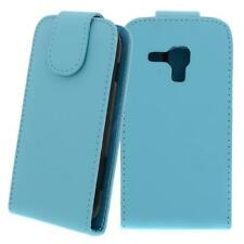 for Samsung Galaxy S Duos / S7562 Turquoise - Synthetic Leather Bag,