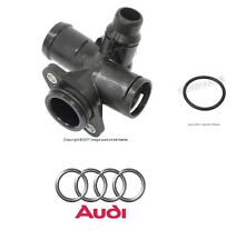 Audi A4 2.0L (05-08) Coolant Flange + Seal GENUINE Water Hose Connector Coupler