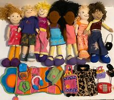 Groovy Girls Lot, 7 Dolls,Outfits, Wardrobe, Purses, sleeping Bag Suitcase, Ect