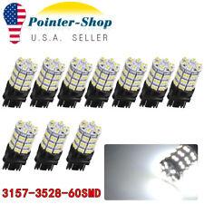 10x White 3157 60SMD LED Light Bulbs Daytime Running Tail Brake 3156 4114 3157A