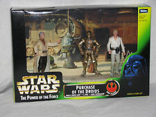 STAR WARS - POWER OF THE FORCE - PURCHASE OF THE DROIDS - 3 FIGS- MISP POTF