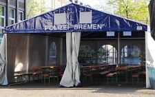 Festzelt Partyzelt Profizelt 6x12m / Inkl. Giebellüftung / 6x Fenster
