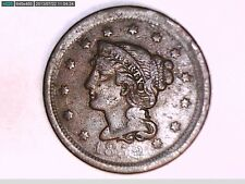 1852 AND 1853 BRAIDED HAIR  LARGE ONE CENT COINS (NICE)