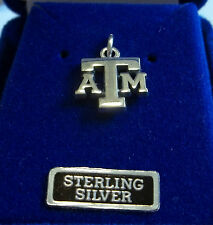 Sterling Silver 14x13mm Texas A&M University Aggie ATM Charm