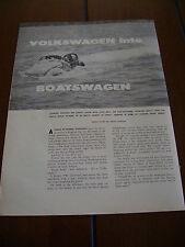 1960 VOLKSWAGEN VW BEETLE BUG BOATSWAGEN
