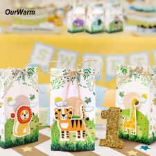 6pcs Safari Animals Favor Boxes Baby Shower Jungle Zoo Theme Favor Candy Box