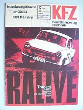 DDR Zeitschrift KFZ Kraftfahrzeugtechnik 10/ 1966 Instandsetzungs Hinweise Skoda