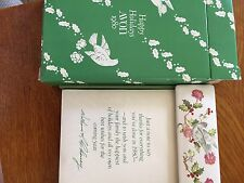 Avon 1980 Happy Holidays Note Cards And Holder In Box