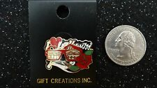 """""""I LOVE HOLLYWOOD""""      Gift Creations PIN      Deep Red/ Cream/Gold/Black/Green"""