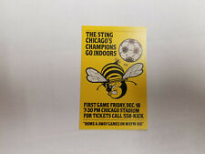 Chicago Sting 1981/82 NASL Indoor Soccer Pocket Schedule Card - Budweiser