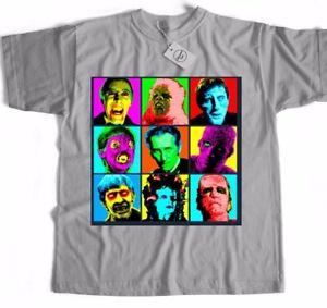 Dracula Frankenstein Inspired Horror Sci Fi Classic Retro Film Movie T Shirt