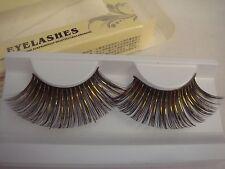 Black and Gold Foil Super Long False Eyelashes (J-134)