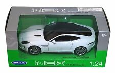 WELLY Jaguar F-Type Coupe 1:24 White Diecast Car