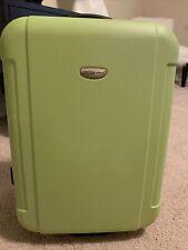 """Traveler's Choice 20""""  Green Hardside Rolling Luggage Suitcase EUC"""