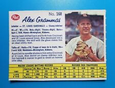 1962 POST BASEBALL CANADIAN #168 ALEX GRAMMAS NM RARE VINTAGE