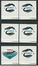 TONGA # 407-11, C224-228, CO126-28 MNH WHALE PROTECTION, SEA LIFE