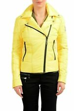 Just Cavalli Yellow Duck Down Full Zip Women's Parka Jacket US S IT 40