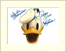 TONY ANSELMO DONALD DUCK WALT DISNEY PP 8x10 MOUNTED SIGNED AUTOGRAPH PHOTO