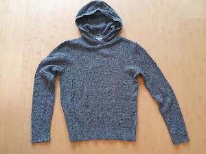 Calvin klein Kapuzenpullover Baumwolle Pullover grau melliert S