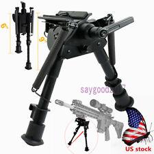 """Us 6""""- 9"""" 5 Level adjust Harris style Bipod Rotatable Sling Swivel 4 rifle Hunt"""