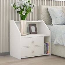 Modern Bedside Tables Cabinet Chest of Drawers Nightstand 2 Drawers Bedroom