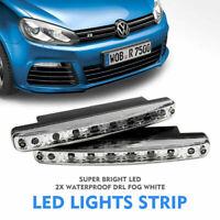 2x Luz de coche LED DRL Niebla Conducción Luz diurna Corriente blanca Lámpara