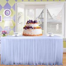 9ft White Tableskirt Tutu Table Skirt Party Catering Wedding Tulle Tableware