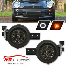 Smoked Lens Full LED Halo Turn Signal Light Assembly For MINI Cooper R50 R52 R53