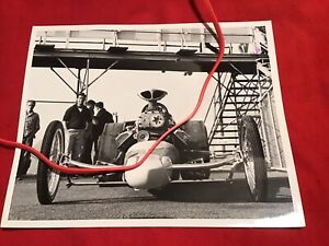 Original 1960's Drag Racing Photo GREER BLACK Don PRUDHOMME Dragster LIONS STRIP