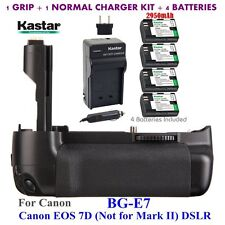 BG-E7 Grip + 4 x LPE6 Battery & Charger for Canon LP-E6 and EOS 7D Digital SLR
