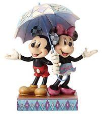 Enesco 4054280 Objet de Décoration Mickey Minnie sous un Parapluie Résine Mul