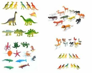 Children Kids Toys Farm Jungle Sea Dinosaurs Animals Figurines Party Bag Fillers