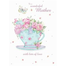 Mothers Day Card - Mother - Flowers In A Cup