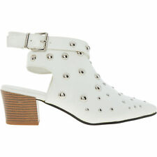 STYLE SHOES White Stud Cross Strap Shoes, size UK 8 / EU 41