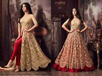 INDIAN ANARKALI SALWAR KAMEEZ SUIT ETHNIC DESIGNER BOLLYWOOD PARTY DRESS 4B