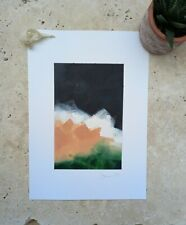 Abstract original art acrylic painting Africa storm landscape art
