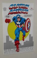Original 1989 Marvel Comics 1980's variant FBI Captain America poster:Romita art