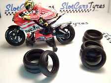 Scalextric 8 Urethane rear tires for motorbike -IRL