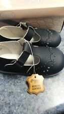 Angel Brand girls navy leather dress shoe size 6