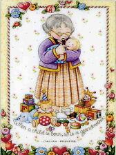 When Child Born Grandma-Handcrafted Fridge Magnet-Using art by Mary Engelbreit