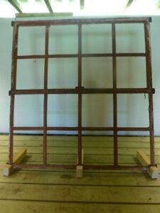Stallfenster 100,3x93,4 | Dänische Eisenfenster, antik