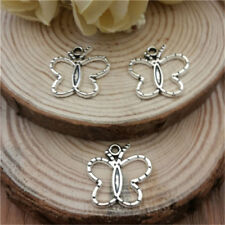 Wholesale 8pcs Tibet Silver Butterfly Crafts Charms Pendants Making Jewelry NEW