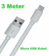 3m Cable de carga micro usb para Samsung Galaxy S4 S5 S6 S7 EDGE